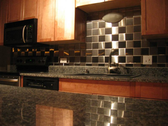 steel aluminum copper brass and metal tiles and backsplashes