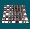 1 1/4 in. x 1 1/4 in. Stainless Steel Tile #4 Brushed Finish Mosaic Tiles Alternating Grain