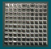 1 in. x 1 in. Stainless Steel Tile #4 Brushed Finish Mosaic Tiles Parallel Grain