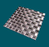 1 in. x 1 in. Stainless Steel Tile #4 Brushed Finish Mosaic Tiles Alternating Grain