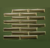 1 1/4 in. x 6 in. Stainless Steel Tile #4 Brushed Finish Mosaic Tiles Vertical Grain