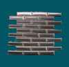 1 in. x 4 in. Stainless Steel Tile #4 Brushed Finish Mosaic Tiles Vertical Grain