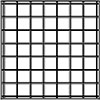 Stainless Steel 4x4 Tiles Symetrically Centered on an Individual Tile