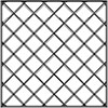 Stainless Steel 4x4 Tiles Diagonally Symetric