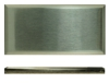3 in. x 6 in. Stainless Steel Turned Edge Subway Tile #4 Brushed Finish (Horizontal) Fiberock Backing