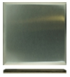 6 in. x 6 in. Stainless Steel Tile #4 Brushed Finish Turned Edge Over Fiberock Backing
