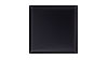 4 in. x 4 in. Aluminum Satin Black Tile Fiberock Backing