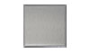 4 1/4 in. x 4 1/4 in. Brushed Aluminum Tile Fiberock Backing