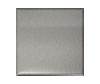 6 in. x 6 in. Brushed Aluminum Tile Fiberock Backing
