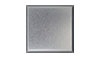 4 1/4 in. x 4 1/4 in. Brite Brushed Anodized Aluminum Tile