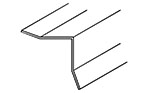 "Angle Trim for Inside Corners with Beveled Legs 1"" x 1"""