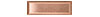 1 1/4 in. x 4 in. 110 Copper Tile #4 Brushed Finish (Horizontal)