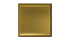 4 1/4 in. x 4 1/4 in. Stainless Steel Tile #4 Brushed Brass Finish Fiberock Backing
