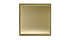 4 in. x 4 in. Stainless Steel Tile #4 Brushed Brass Finish Fiberock Backing