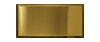 3 in. x 6 in. Stainless Steel Subway Tile #4 Brushed Brass Finish (Horizontal) Fiberock Backing