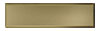 2 1/4 in. x 8 in. Stainless Steel Tile #4 Brushed Brass Finish (Vertical) Fiberock Backing